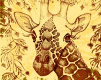 "African Giraffe FQ  Kalahari 18"" x 21"""