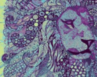 """Lion zen Okovango 18"""" x 21"""""""