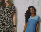 UNCUT and FF Pattern Pieces Connie Crawford Butterick 6033 Sewing Pattern Dress Sizes 1X thru 6X