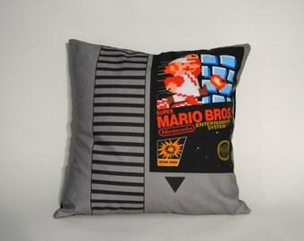 "80's Retro Gaming Cartridge Throw Pillow Case 16""x16"" Made to Order"