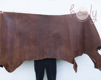 Excellent quality genuine brown cow leather hide thickness of 1.6 mm, Full Hides, Leather Supplier, Cow Leather Hide, Brown Leather Sheet
