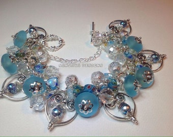 Pretty aqua blue bracelet