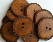 3.5cm cherry buttons oiled, Natural wooden buttons, wood buttons, wooden buttons, cherry buttons, wood, wooden, buttons, branch buttons