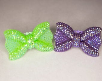 Green or Purple Bow Ring