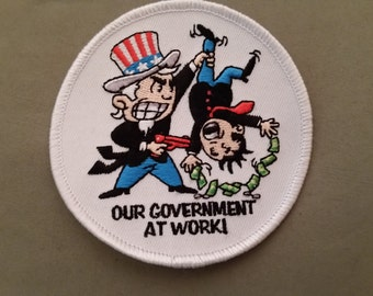 our government at work embroidered patch