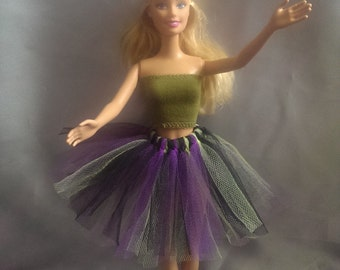 Multicolor tutu skirt for Barbie doll