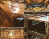 REDUCED PRICE - Coffee Table Pallet Wood Refurbished Handmade Rustic Weatherproof