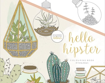 KaiserColour Hello Hipster Coloring Book