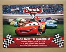 Disney Cars Birthday Invitation - Digital File (Printing Services Available)