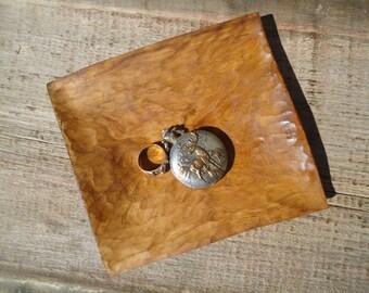 Cherry wood tray - Wood key tray - Anniversary gift - Ring tray - Rustic decor - Key tray - Jewelry Dish - Office decor - Ring Dish - Art