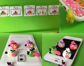 Angry Bird Cellphone Dust Plug Dust Stopper Earphone Cap Headphone Jack 3.5mm iPhone HTC Samsung Nokia