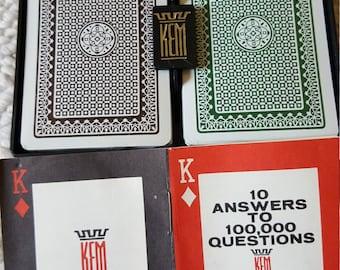 Vintage Kem Playing Cards 1970s