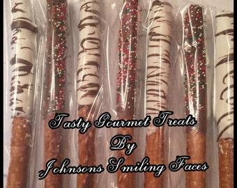 JSF Gourmet chocolate covered pretzel Rods (6)