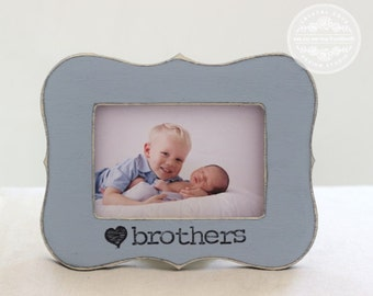 Brothers Picture Frame GIFT New Baby Boy Frame Gift Birth Pregnancy