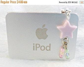ON SALE Fairy Kei Shooting Star Dust Plug, For iPhone or iPod, Phone Plug, Candy Pastels, Cute & Kawaii :)