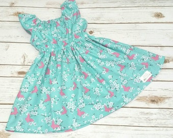 Butterfly Blossoms Matilda Dress In Teal