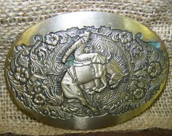 Bronc Rider Brass Belt Buckle Rodeo Belt Buckle Solid Brass Belt Buckle