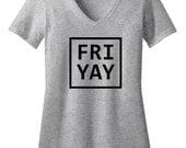 Friyay Womens V-Neck Shirt