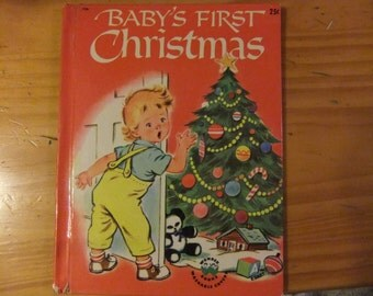 VINTAGE Wonder Book - Baby's First Christmas