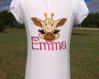 GIRAFFE-Personalized Embroidered Bodysuit or T-Shirt