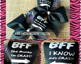Cheer Bow - BFF Best Friends Cheer Bow Pair