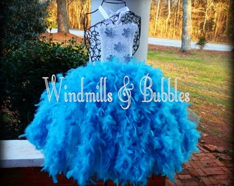 Feather Dress [custom options and colors available]