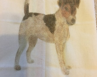 Jack Russel tea towel, Great  GIFT for the DOG LOVER in your Life or keep for yourself!  Personalization is no extra charge