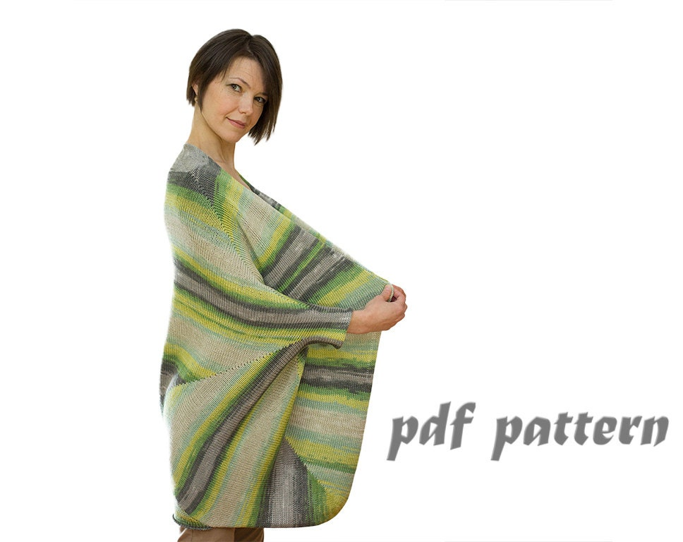 KNITTING PATTERN Knitted Plus Size Womens cotton Sweater
