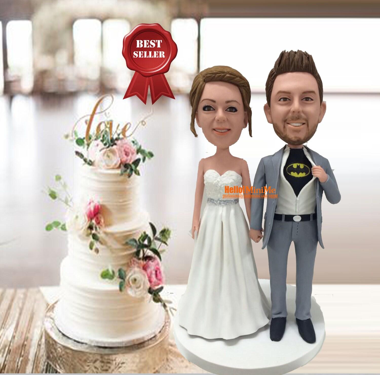 custom cake topper wedding bobblehead batman cake topper. Black Bedroom Furniture Sets. Home Design Ideas