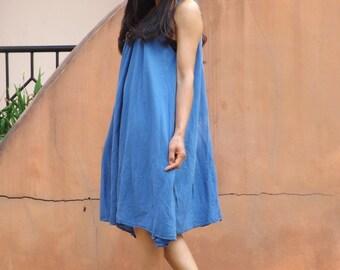 Vacation Time Dress...Sundress....Slip Dress...Color Sky Blue