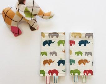 ORGANIC Elefunt Teething Pads // Beco Ergo Tula and many MORE // Rainbow Elephants