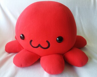 Giant Large Octopus Plush with Embroidery