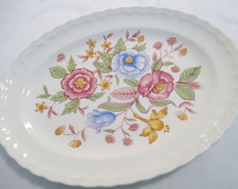 Vintage Pope Gosser Oval Serving Platter w/Imperfections, 13 inch