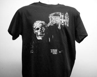 Death - Scream Bloody Gore T-shirt (FREE SHIPPING in the Usa only)Chuck Schuldiner Autopsy Morbid Angel Obituary Deicide Nocturnus Repulsion