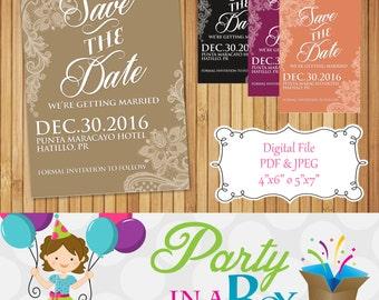 Save the Date Printable Digital File