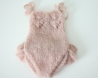 Newborn props - Newborn romper - Baby girl props - Photo props - Newborn girl - Baby photo prop - Newborn baby photo - Pale pink - Girl prop