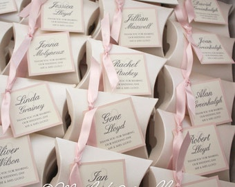 Personalised Favour Box with Guest Name (no need for place card)