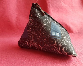 4 inch Doctor Who Tardis swirls inspired coin purse
