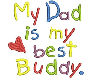 Fathers day embroidery design