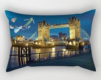 Peter Pan Pillow, Peter Pan, Wendy, Michael and John Pillow, Peter Pan Rectangular Cushion with Insert