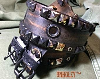 Leather Belt Studded Ravaged Scavenger Post Apocolyptic Steampunk Ranger Pirate Gunner Belt