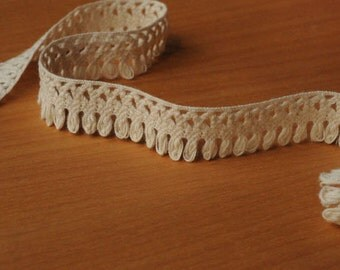 Cream Cotton Fringe Trim 5yds x 1.8cm wide