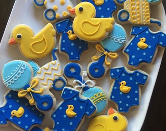 Rubber Ducky baby shower Set