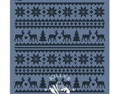 """Holiday Sweater 5.5"""" x 5.5"""" Stencil"""