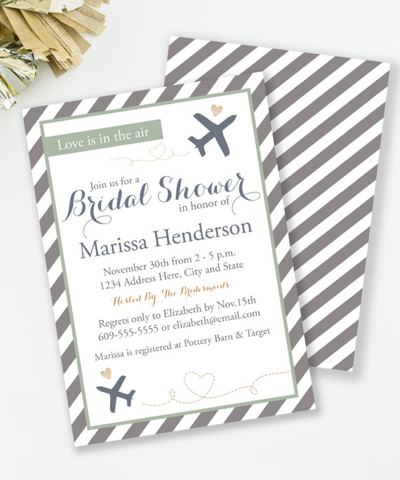 Travel invitation travel bridal shower love is in the air sage il570xn filmwisefo
