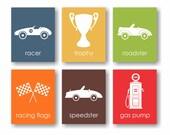 Race Car Nursery Art, Vintage Car Nursery, Racing Baby, Derby Car, Boys Room Decor, Roadster, Speedster, Racing Flag, Transportation Decor