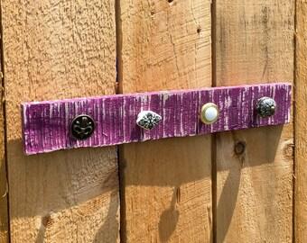 Knob Jewelry Hanger on Pallet Wood