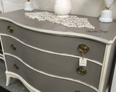 SOLD/Chic Bow Front Federal Style Dresser/Chest