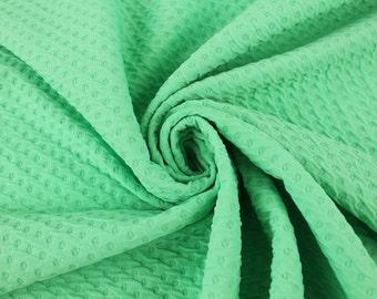 Seafoam Poly Rayon Spandex Jacquard Fabric By the Yard Style 468