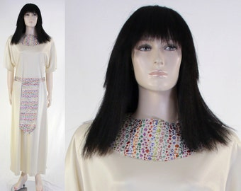 Adult Women's Cleopatra Costume - Ivory Gown - Size 12 - Metallic Collar & Belt - Cleoptra Wig - Queen of the Nile